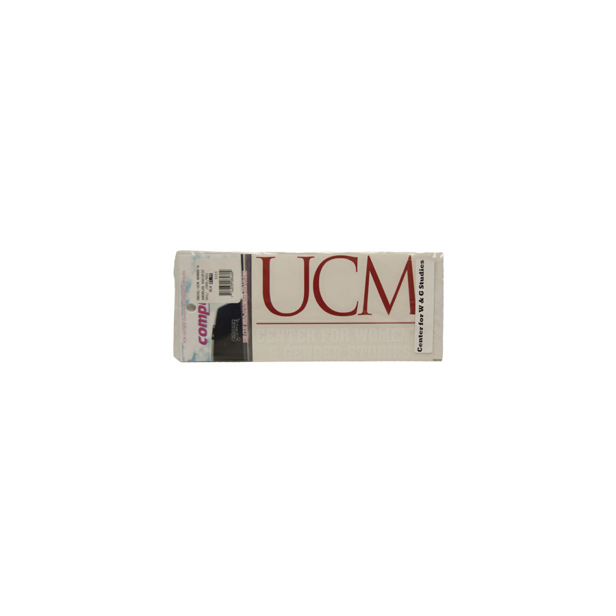 "Image For UCM WOMEN'S STUDIES DECAL <font color=""red"">Clearance</font>"