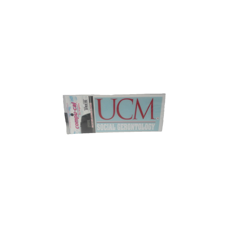 "Image For UCM SOC. GERONTOLOGY DECAL<font color=""red"">Clearance</font>"