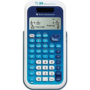 Image For Texas Instruments TI-34 MultiView Calculator