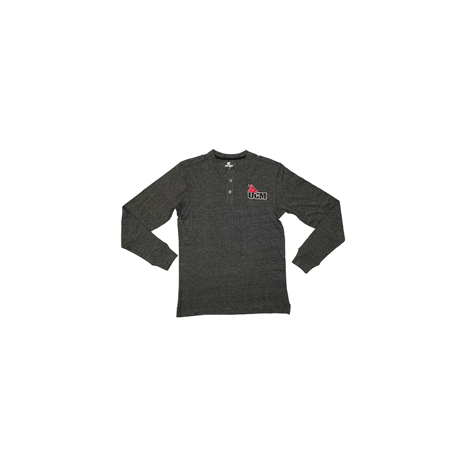 Image For UCM LONG SLEEVE HALF BUTTON TEE
