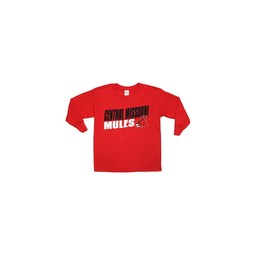 Image For YOUTH CENTRAL MISSOURI MULES LONG SLEEVE TEE