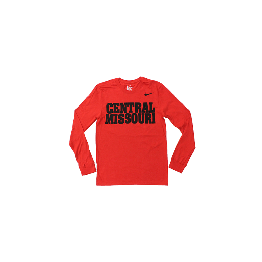 Image For CENTRAL MISSOURI MULES NIKE LONG SLEEVE TEE