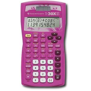 Image For CALC- TEX TI-30XIIS PINK