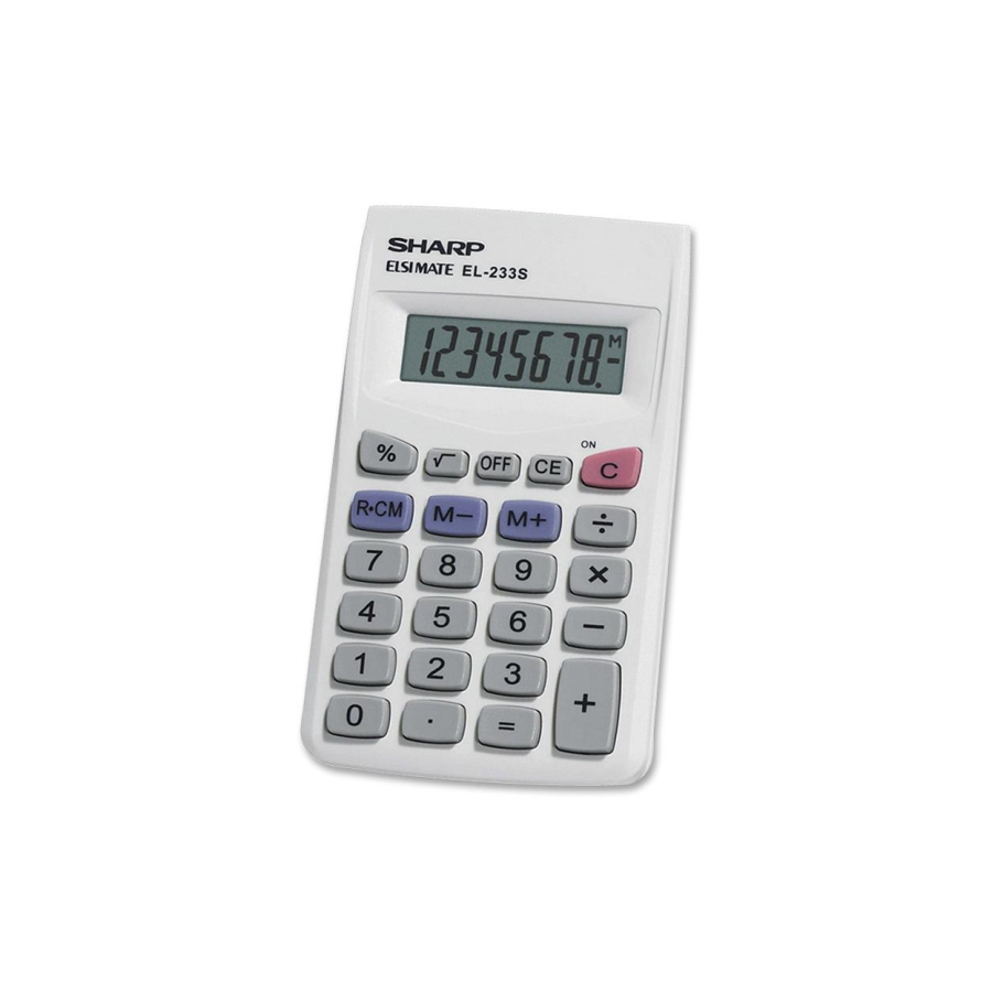 Image For CALC- Sharp EL233SB 8-Digit Pocket Calculator