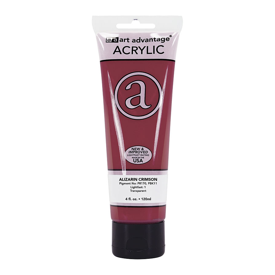 Image For Art Advantage Alizarin Crimson 4 oz. (120 ml) Acrylic Paint