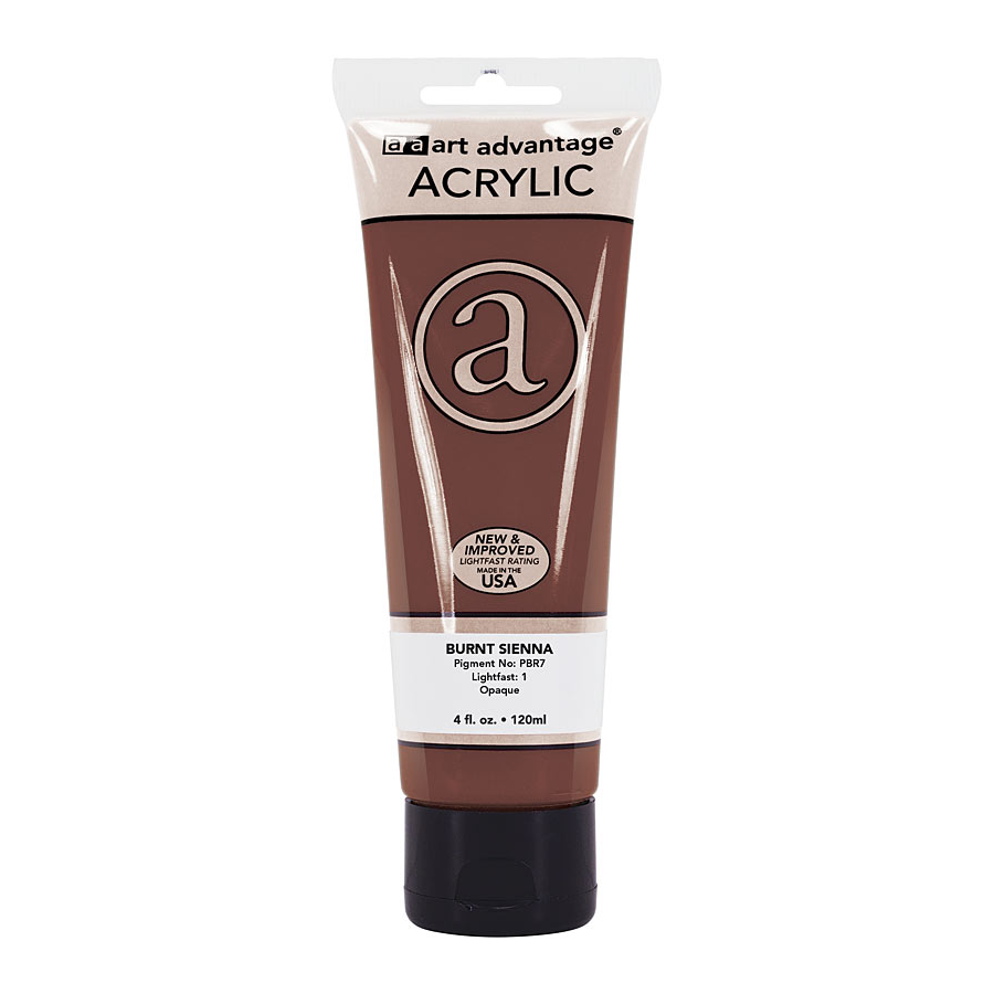 Image For Art Advantage Burnt Sienna 4 oz. (120 ml) Acrylic Paint Tube
