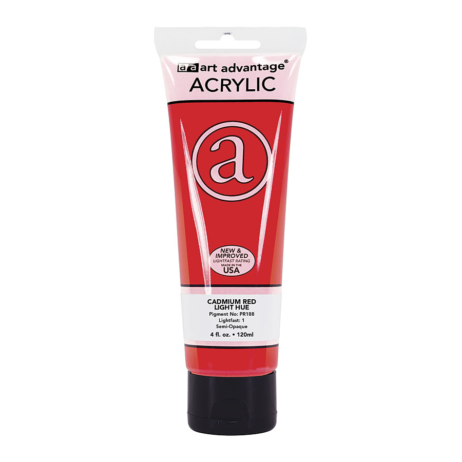 Image For Art Advantage Cadmium Red Light 4 oz. (120 ml) Acrylic Paint