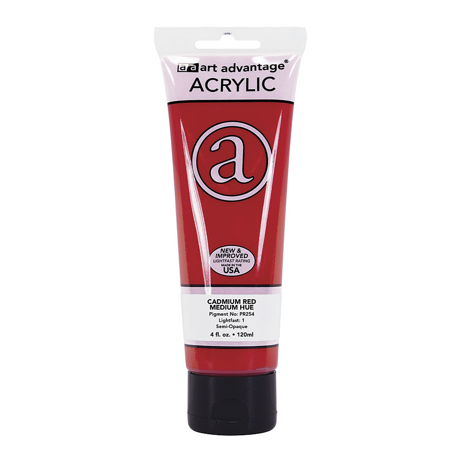 Image For Art Advantage Cadmium Red Medium 4 oz (120 ml) Acrylic Paint