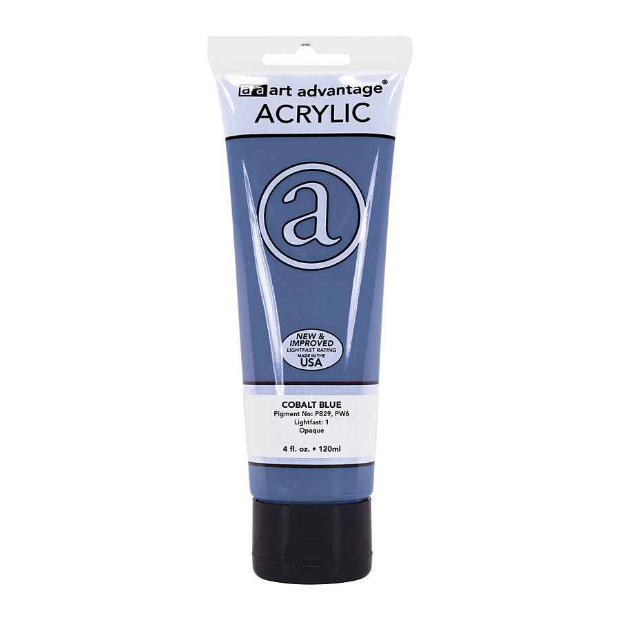 Image For Art Advantage Cobalt Blue 4 oz. (120 ml) Acrylic Paint Tube