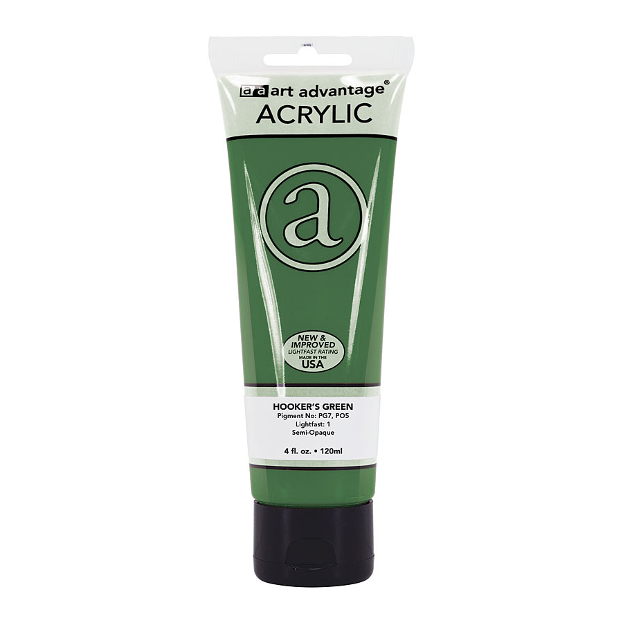 Image For Art Advantage Hooker's Green 4 oz. (120 ml) Acrylic Paint