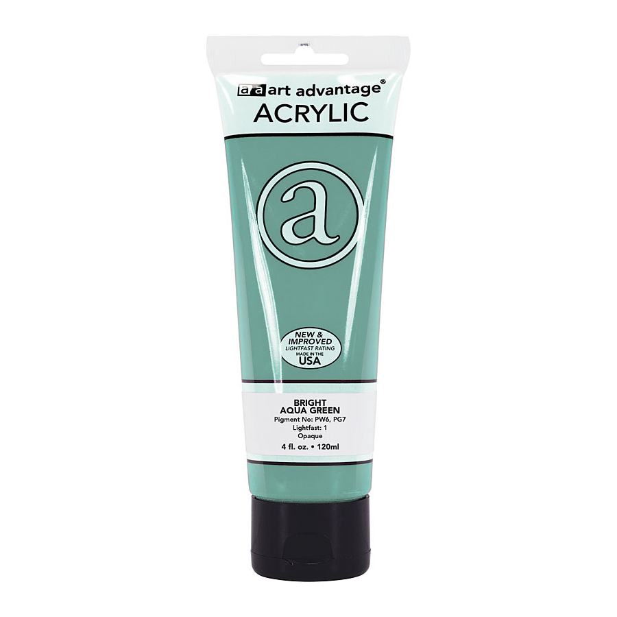 Image For Art Advantage Bright Aqua Green 4 oz. (120 ml) Acrylic Paint