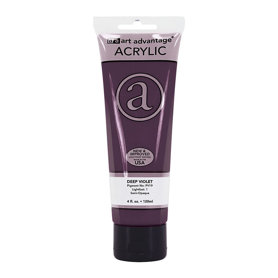 Image For Art Advantage Deep Violet 4 oz. (120 ml) Acrylic Paint Tube
