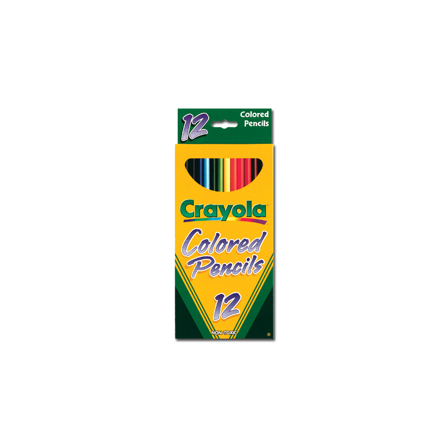 Image For CRAYOLA COLORED PENCIL 12 LONG SET