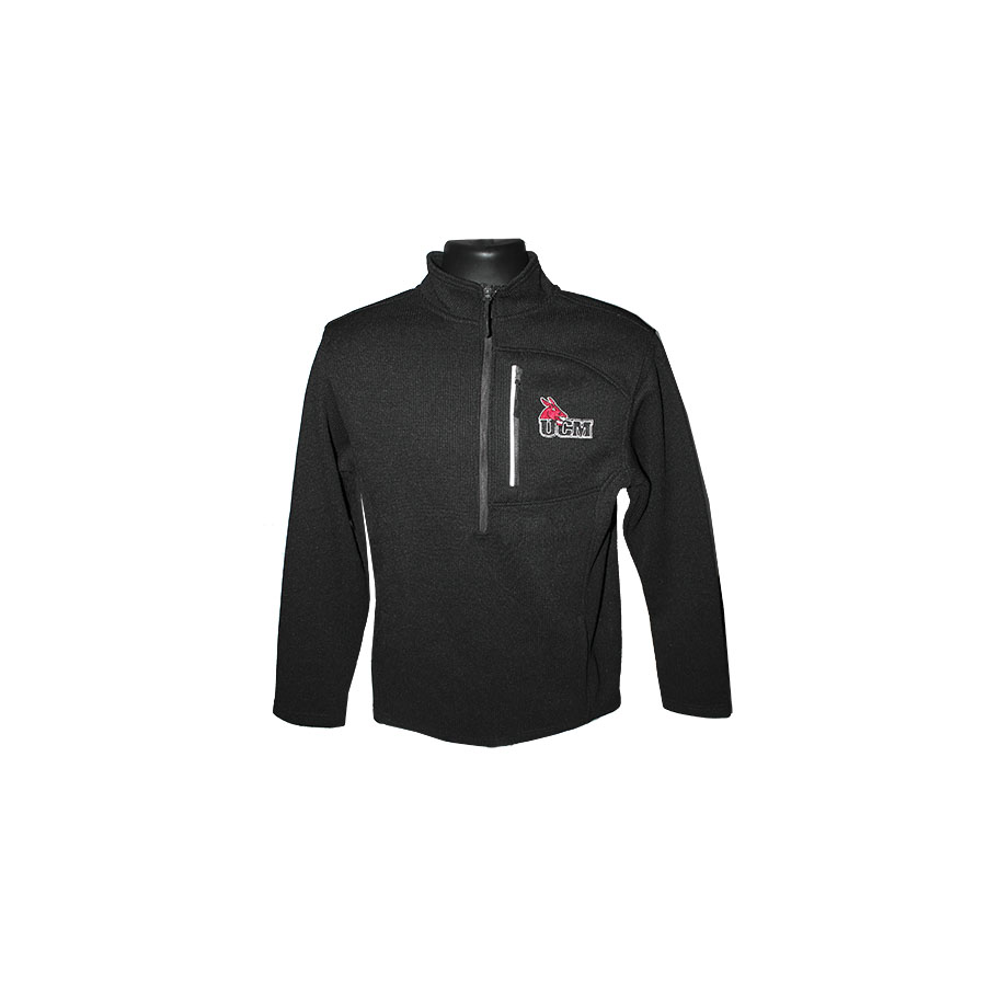 Image For UCM 1/4 ZIP BLACK JACKET