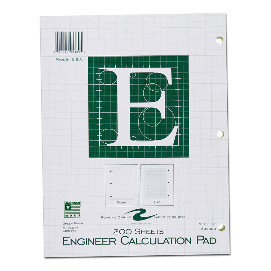 "Image For ENGINEER PAD 8.5""x11"" GREEN"