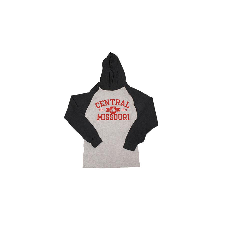 Image For CENTRAL MISSOURI HOODED LONG SLEEVE TEE