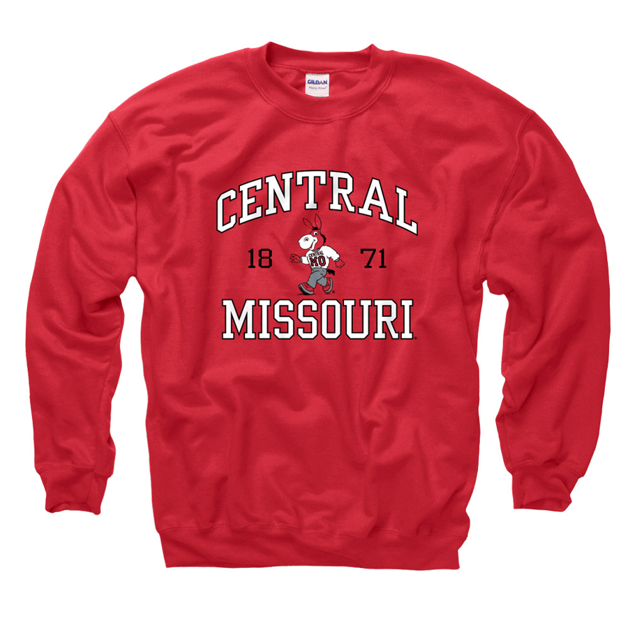 Cover Image For CENTRAL MISSOURI MULES HOODIE CREWNECK