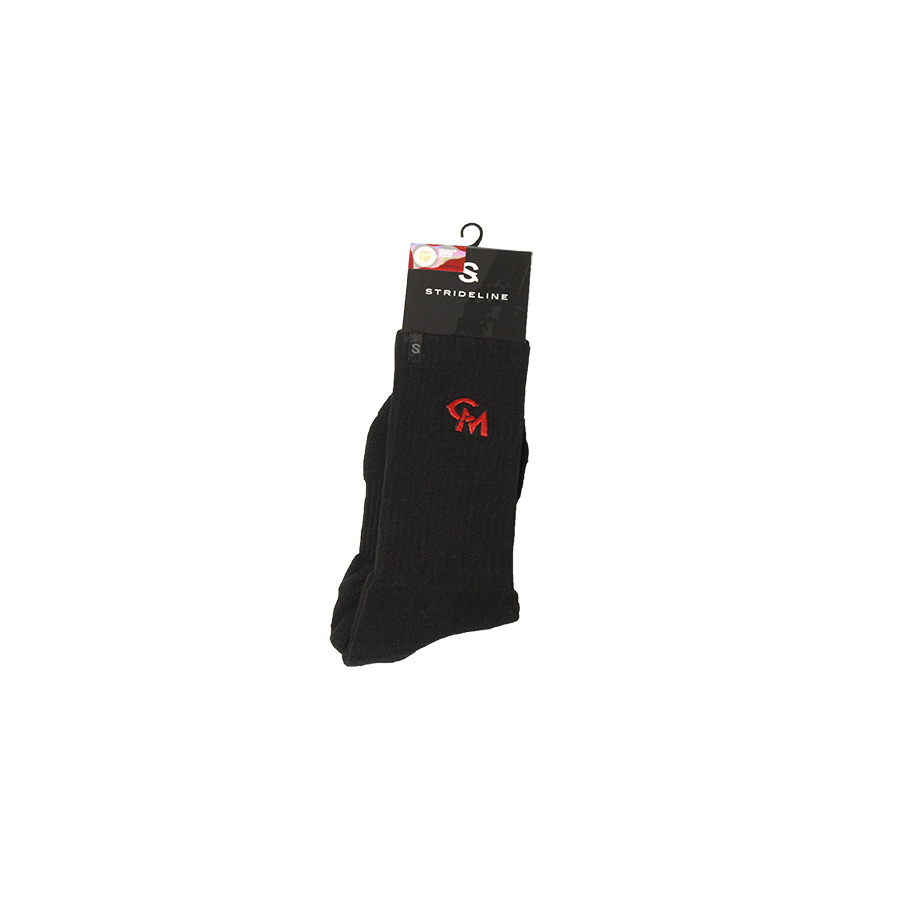 Image For STRIDELINE BLACK CENTRAL MISSOURI SOCKS