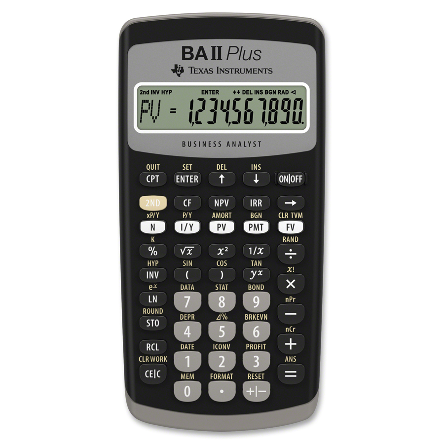 Image For Texas Instruments BA II Plus Business Analyst Calculator