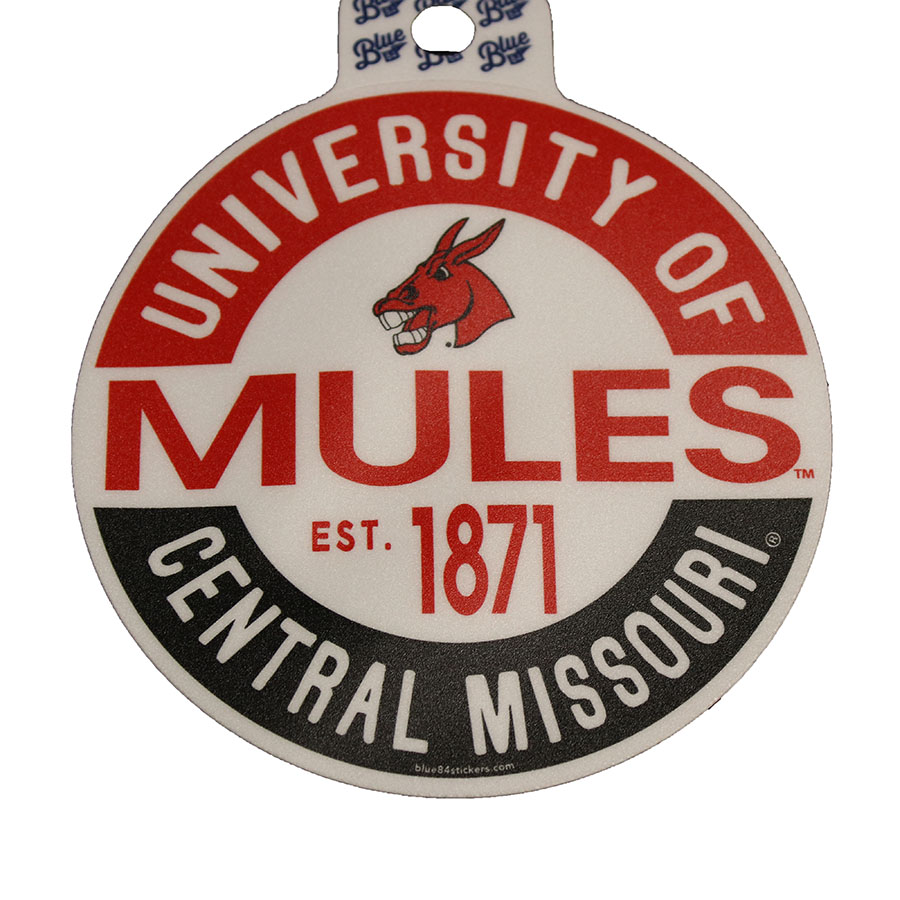 Image For MULES VINTAGE CIRCLE STICKER