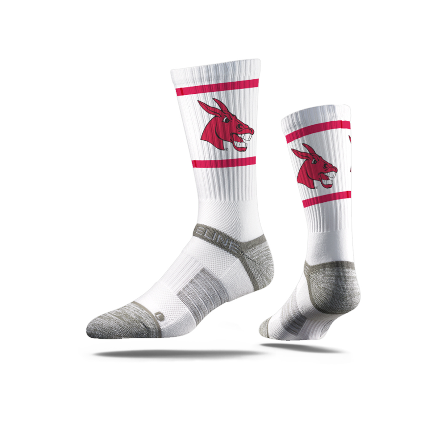 Image For STRIDELINE WHITE MULE SOCKS