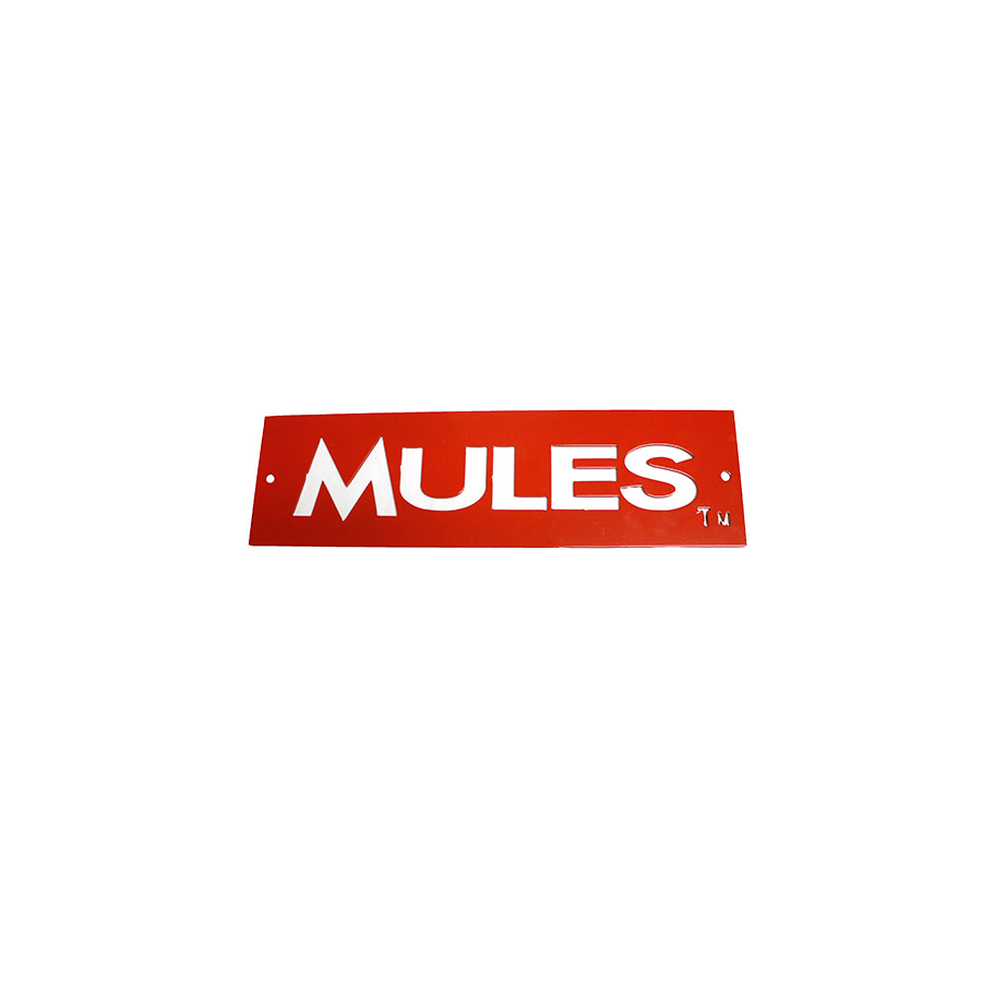 Image For METAL MULES SIGN