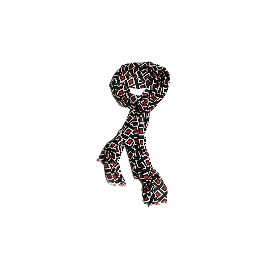 Image For GEO PRINT SCARF - UCM FASHION