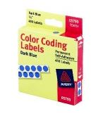 "Image For 1/4"" Round Color Coding Labels, Dispenser Roll Pack, 450pc,"