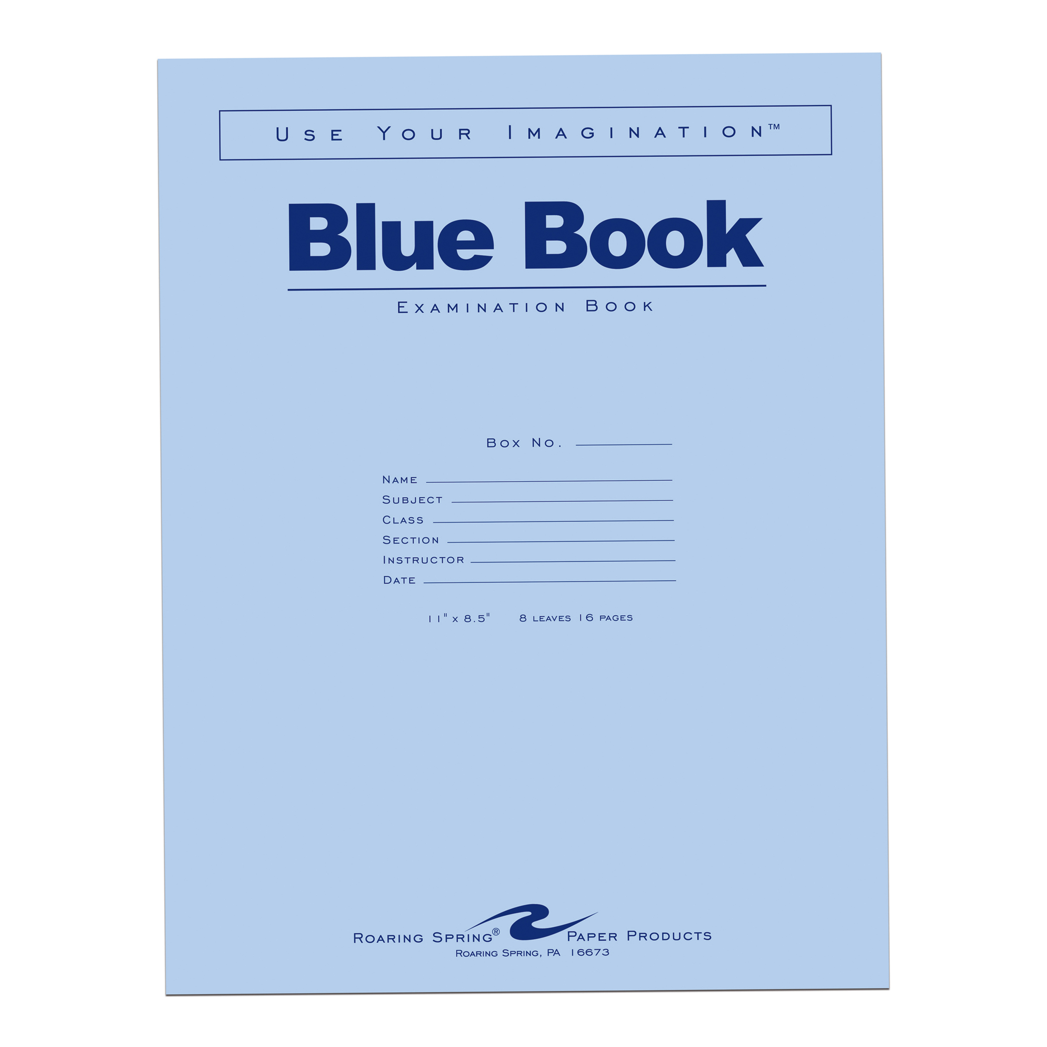 "Image For BLUE BOOK 11""x8.5"" WM 8 SHT/16 PAGE"