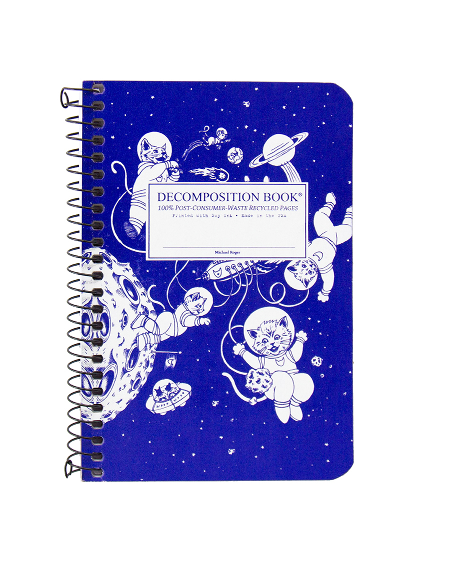 Cover Image For Recycled NB|Kittens in Space Decomposition Book|Pocket size