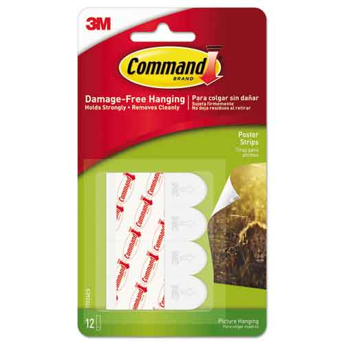 Image For 3M Command Adhesive Poster Strips, 16 Count