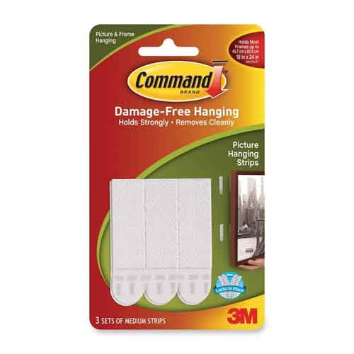 Image For 3M Command Medium Picture Hanging Strips, 3 Count