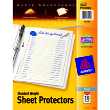 Image For Avery Standard Weight Sheet Protectors, Top-Load