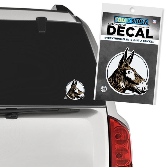 Image For VINTAGE MULE DECAL